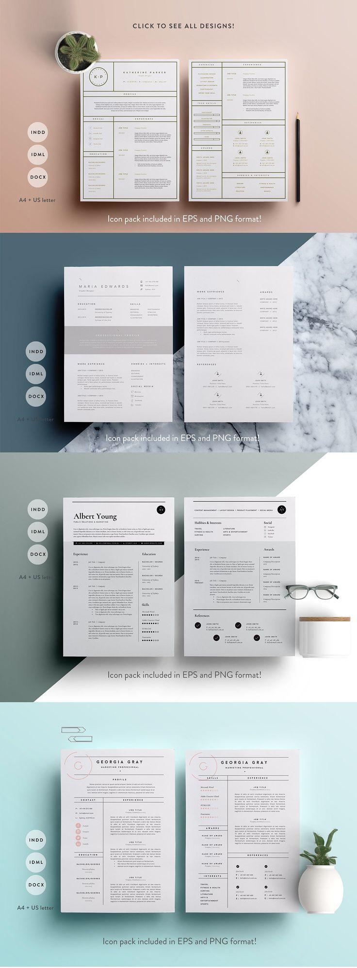 1764 best killer resume template design images on pinterest