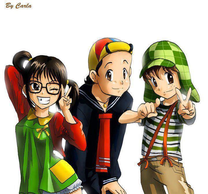 Chiquinha, Quico e Chaves.!