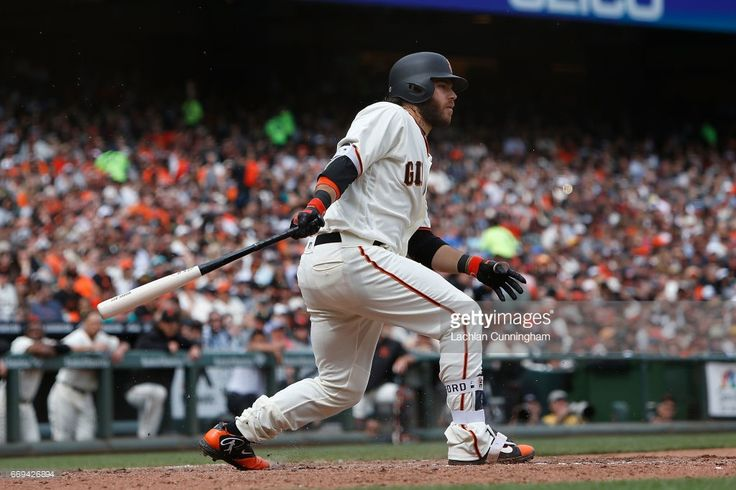 Brandon Crawford #35 of the San Francisco Giants at bat in the seventh inning against the Colorado Rockies at AT&T Park on April 15, 2017 in San Francisco, California. All players are wearing #42 in honor of Jackie Robinson Day.