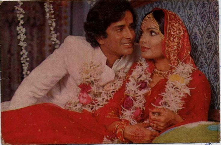 Shashi Kapoor and Parveen Babi