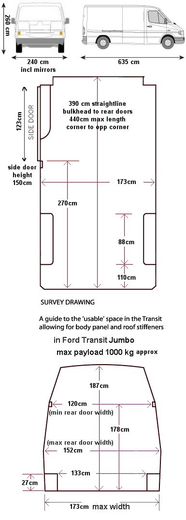 Workable Dimensions Of Ford Jumbo Van Ford Transit