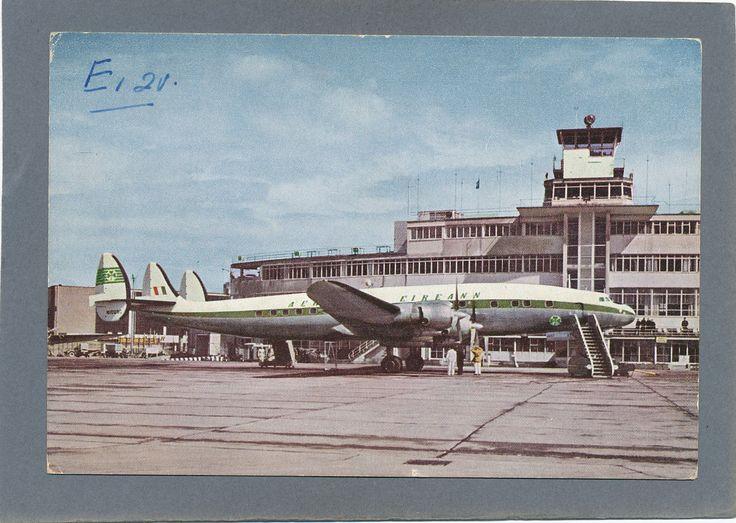 Airline Issue Postcard Irish Aer Lingus Lockheed Constellation Dublin Airport