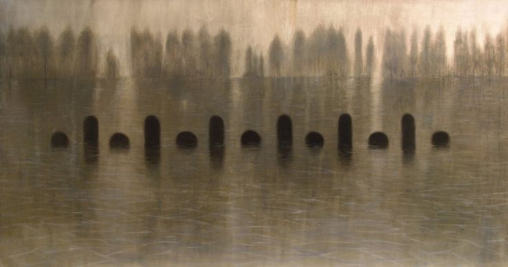 Pa_e_ssaggi liquidi - Oil on linen  - 203x110 cm - 2010 - Alessio Pierro