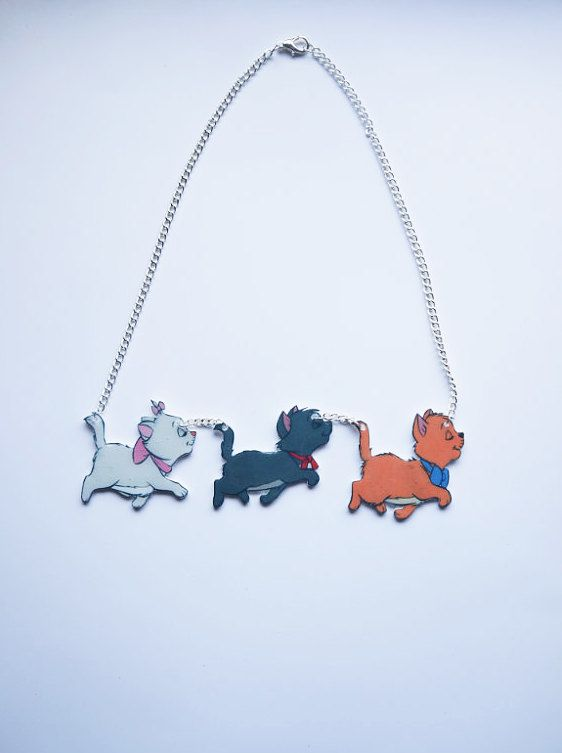 Aristocats necklace! from shrink plastic?