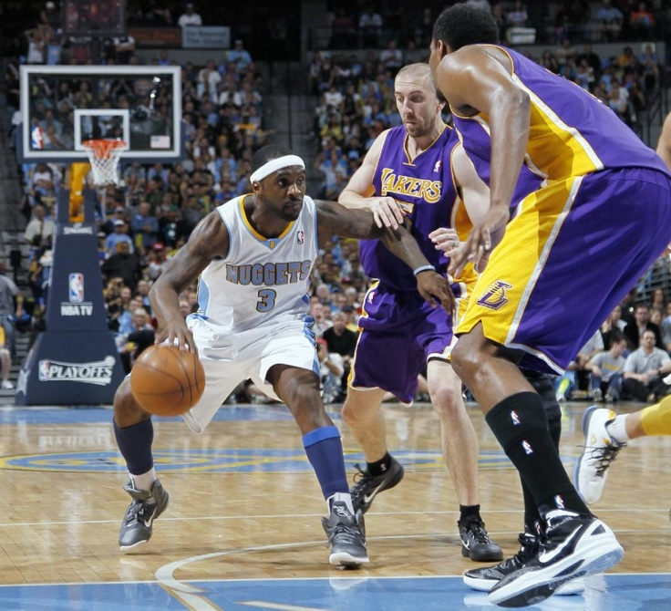 Image Detail For -Denver Nuggets Guard Ty Lawson, Left