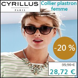 #missbonreduction; Economisez 20 % sur le Collier plastron femme chez Cyrillus. http://www.miss-bon-reduction.fr//details-bon-reduction-Cyrillus-i228-c1828949.html