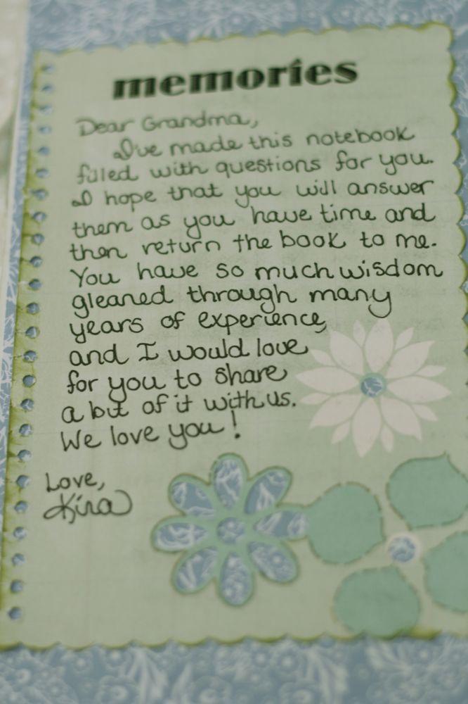 Kissing the Joy as it Flies: Notebook for Grandma