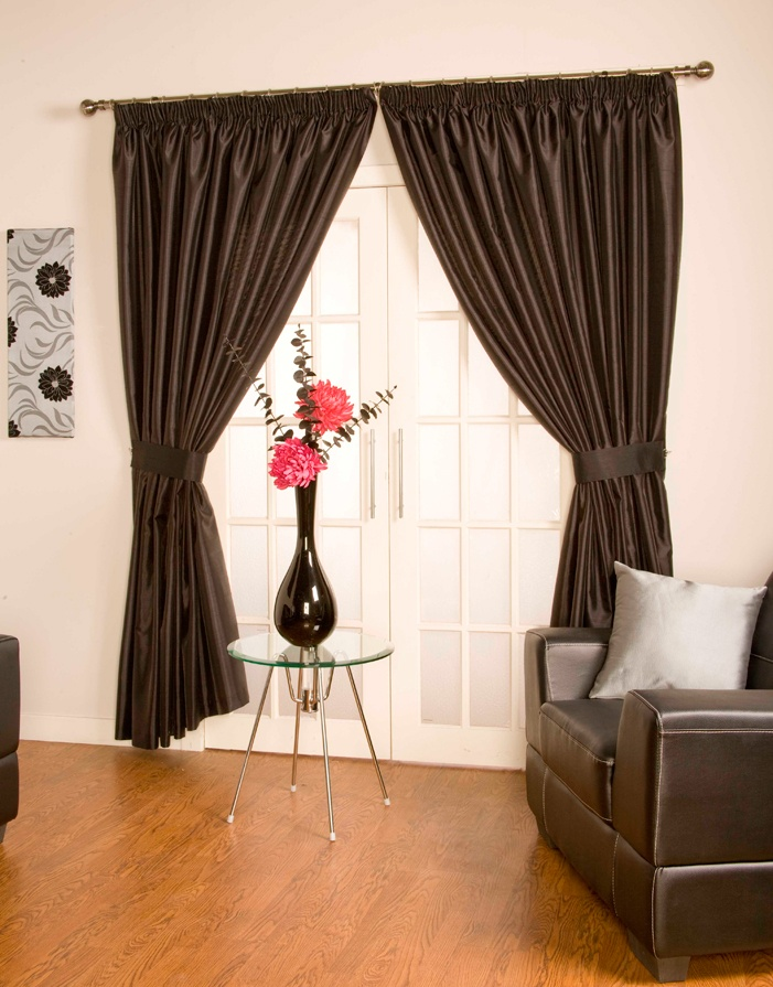 Como Black Pencil Pleat Curtains  From £23.13