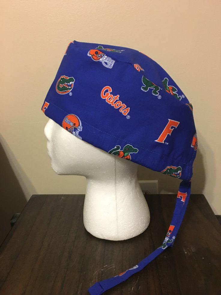 University of Florida Scrub Cap Logos on Blue Surgical