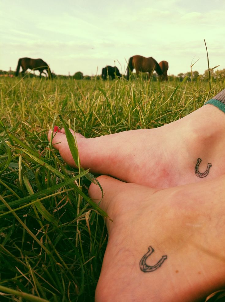 Best Friends Horseshoe Tattoos Small Horse Tattoo Horse Shoe Tattoo ...