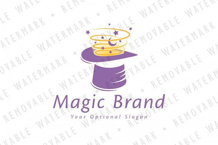 Magical Hat Logo 183545 Logos Design Bundles In 2021 Logo Design Logo Templates Business Card Design