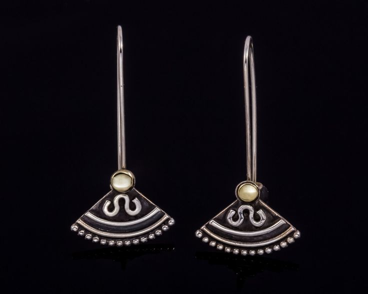 Egyptian inspired silver earrings - Sterling silver, Gold-filled silver by JackAssayagJewelry on Etsy