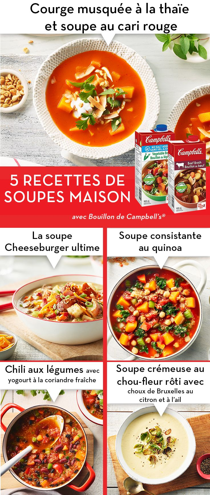 Pin By Campbell Canada On Cuisinez Avec Campbell S Soup Recipes Homemade Soup Cooking Recipes