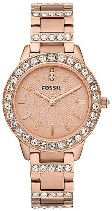 Fossil Watches, Women's Jesse Three Hand Stainless Steel Watch - Rose: Watches: Amazon.com
