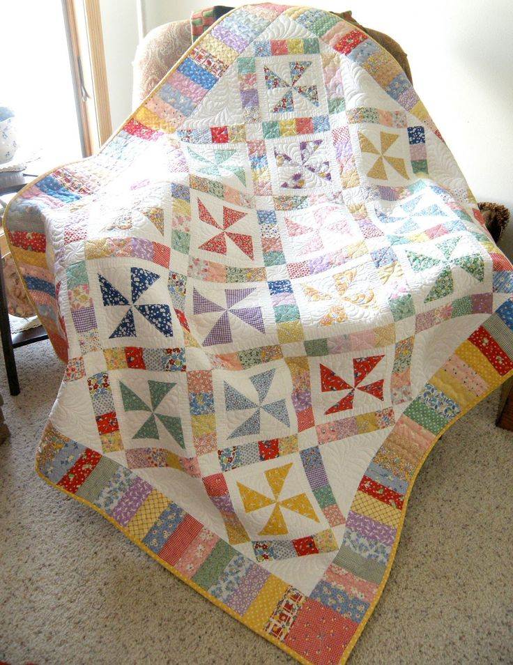 Pinwheels of Yesteryear  Love 30 reproduction fabrics!
