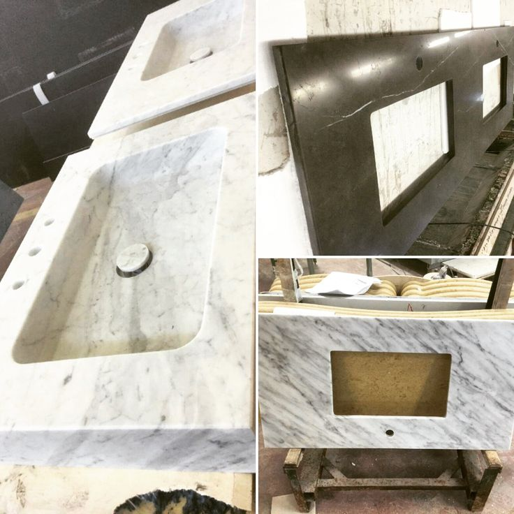 Directly from our lab… Stone top in progress! Where are they going to be allocated? #stone #washbasin #manufacturing