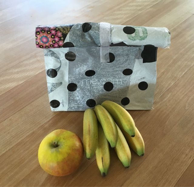 suthinx: Lunchbag aus Upcycling Material