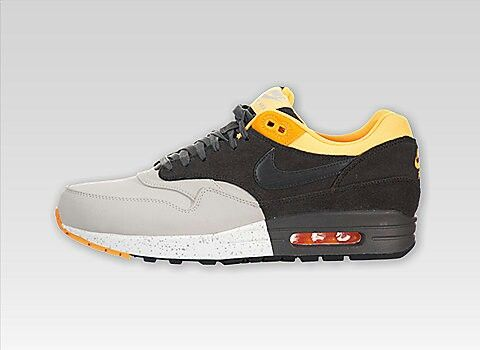 factory price 1ebde 24b38 ... Nike Air Max 1 Premium (Pale GreyDark CharcoalBlackLaser Orange ...