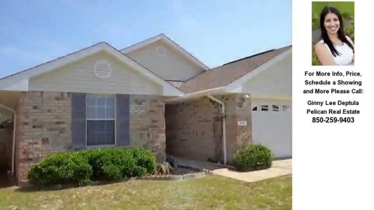 For Sale 9741 Leeward Way, Navarre, FL $169,950 4 bedroom, 2 bath 1635 sqft Two-Car Garage, gated community with pool, volleyball and stocked pond for fishing.  www.ginnyleedeptula.com
