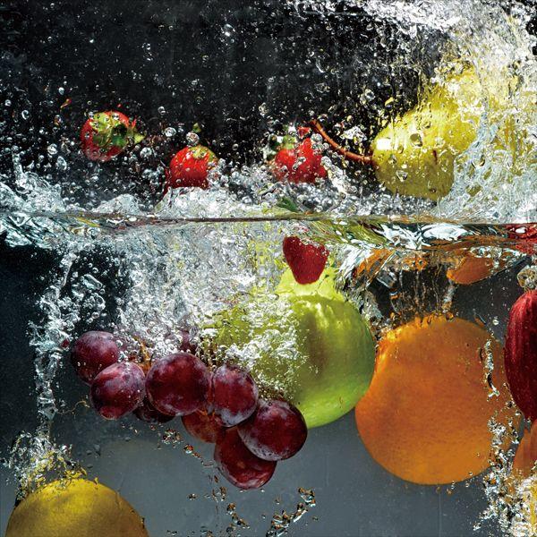 Tableau Verre Fruits Dans L Eau 40x40cm Infos Et Dimensions Largeur 40 Cm Hauteur 40 Cm Composition Verre Poids 4 Tableaux Deco Tableau Fruits