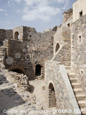 Old ruins in Monemvasia, Greece