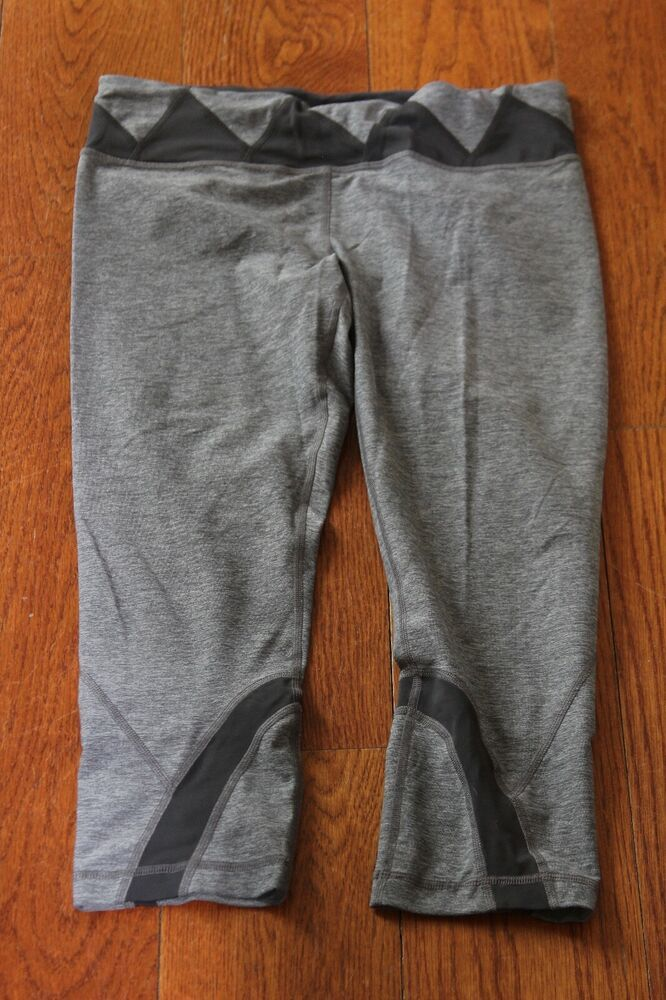 e1e490c26922d3 eBay Ad) LULULEMON Gray Cropped Leggings Size 10 EUC! | Activewear ...
