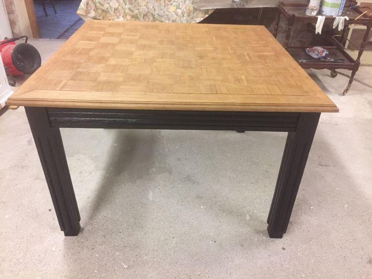 Epingle Par Decap Patine Sur Chene Table Et Chaises Table Basse Bois Metal