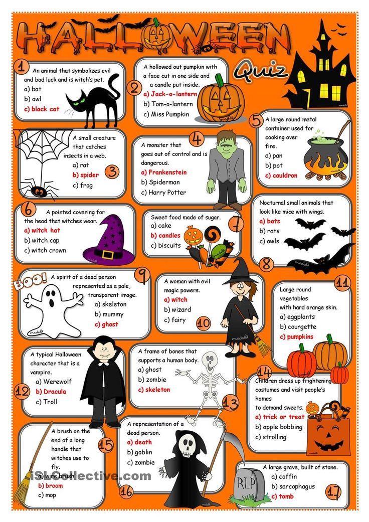 206 best Halloween worksheets images on Pinterest | English language ...