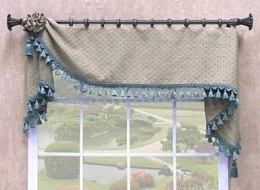 "Moreland Valance, 10"" - 16"" depth - Perfect Kitchen valance!"