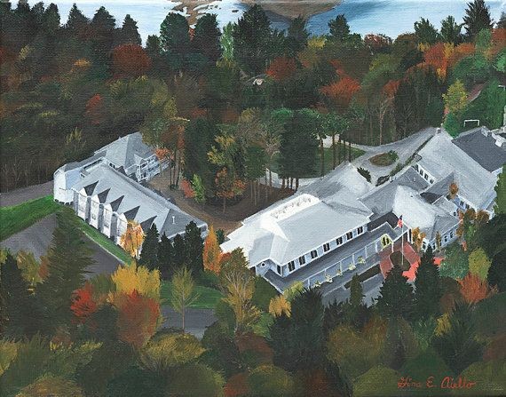 Aerial View of Camp Sunshine in Casco Maine by ARTwithHEART13  *ALL PROCEEDS GO TO CAMP SUNSHINE-a camp for children with life threatening illnesses and their families!*