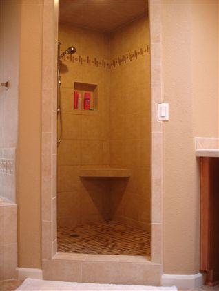 Walk In Shower No Door Shower Tile Pinterest