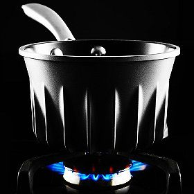 Flare-Pans- from Lakeland. Heats food 40% faster and requires 28% less energy than conventional saucepans.