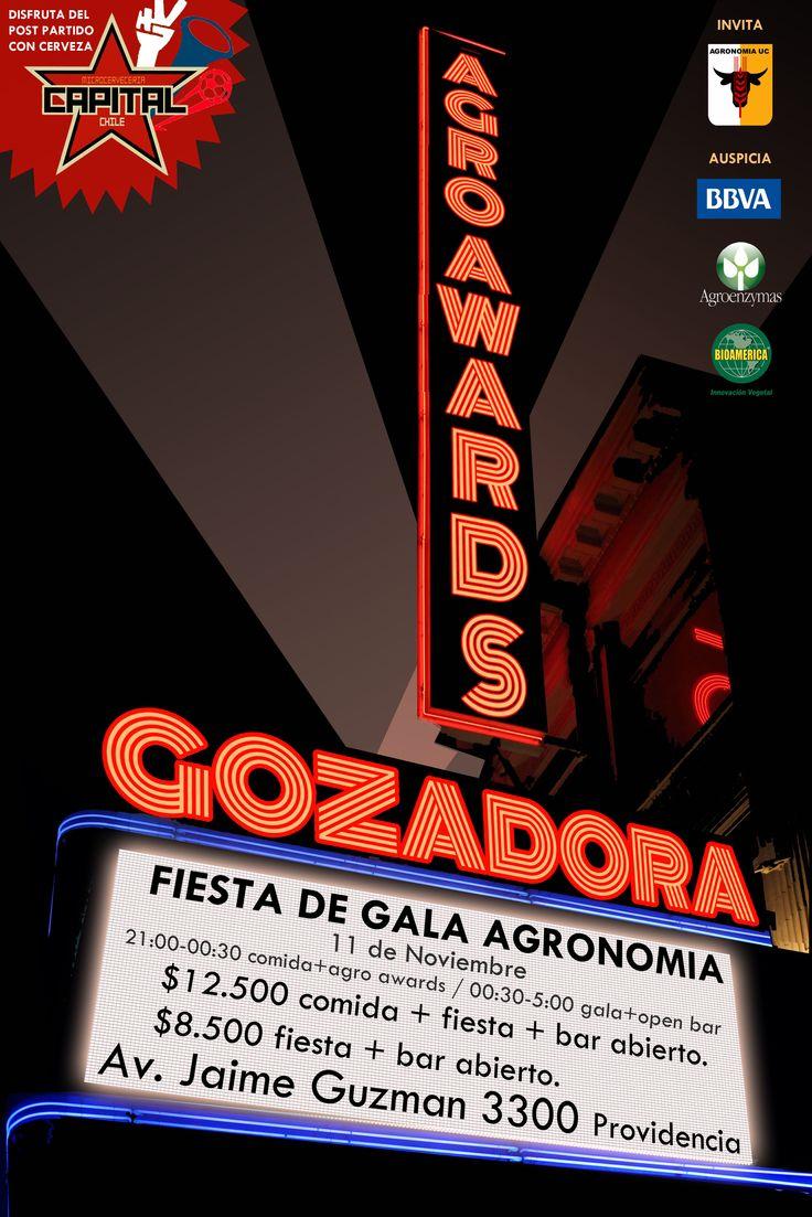 Afiche Gala Centro de Alumnos Agronomía UC