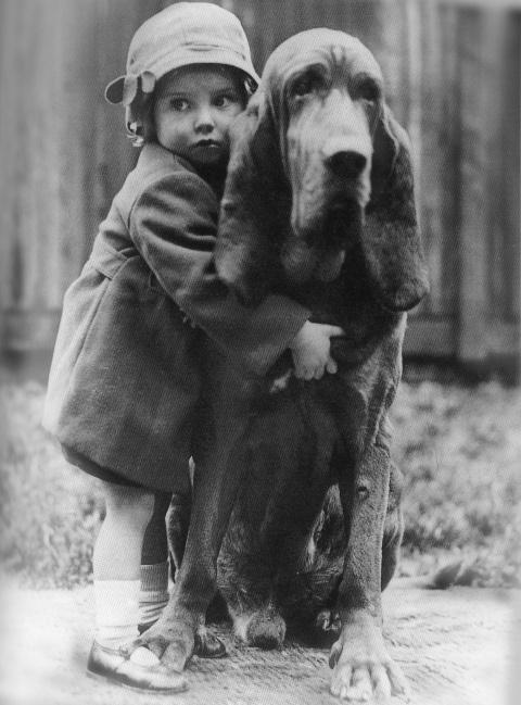 Little girl, big dog...  William Vanderson, 1935