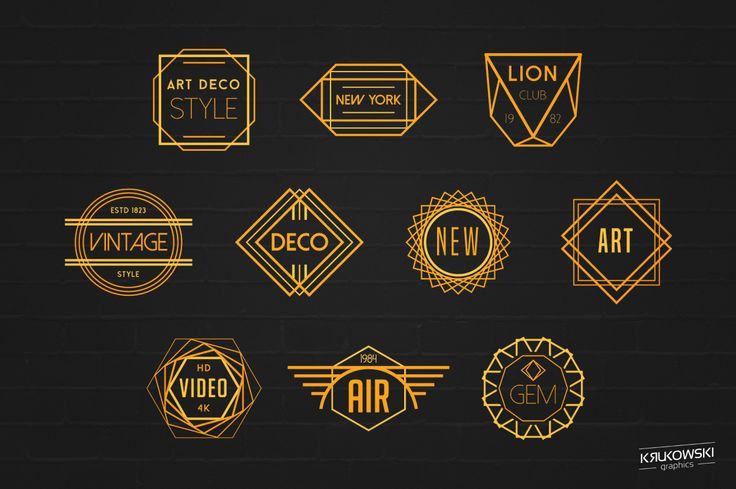 Art Deco Badges Logos Badge Logo Badges And Art Deco