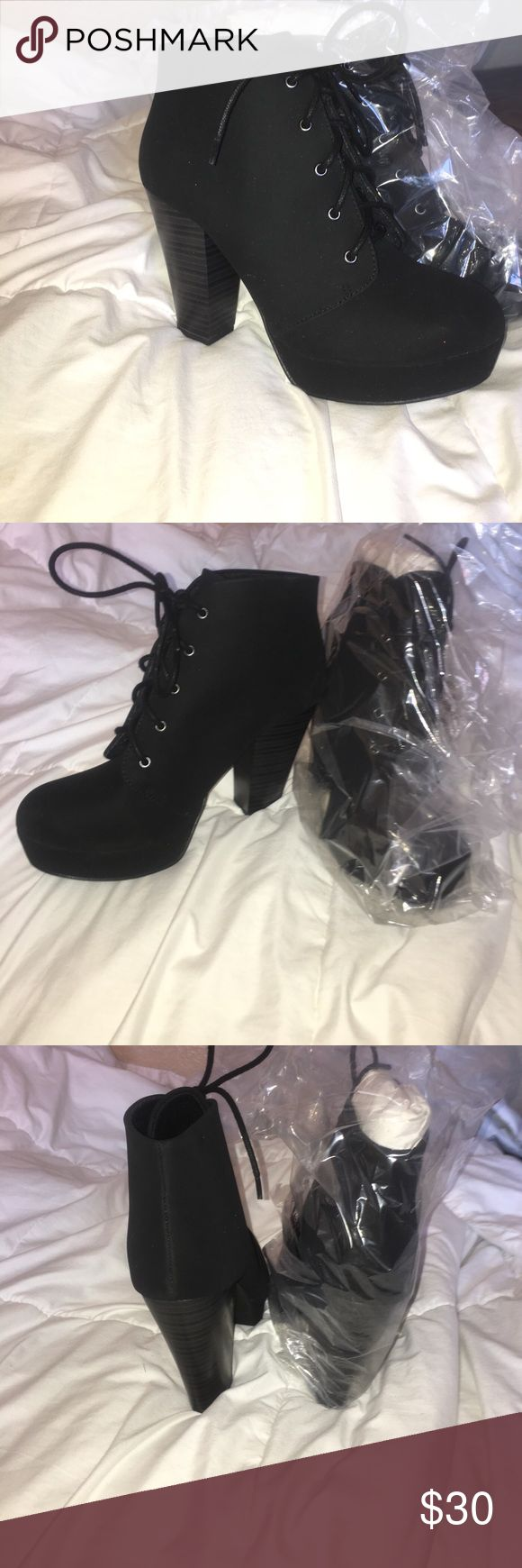 Black Suede Heels 7 Brand New Black Suede Pumps. Never worn. Soda Shoes Shoes Platforms