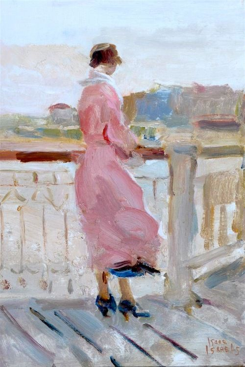 Isaac Israëls-Dame in rose-Boulevard