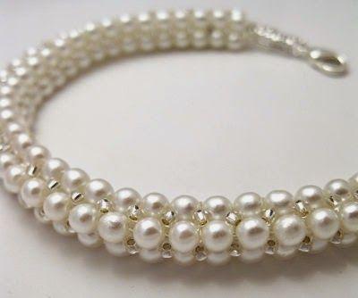 MyAmari: Herringbone Pearl Rope Bead Pattern -Approximately 400 4MM glass or similar pearl beads.  -10 g 11/0 Miyuki Round, -1 g 15/0 Miyuki Round,