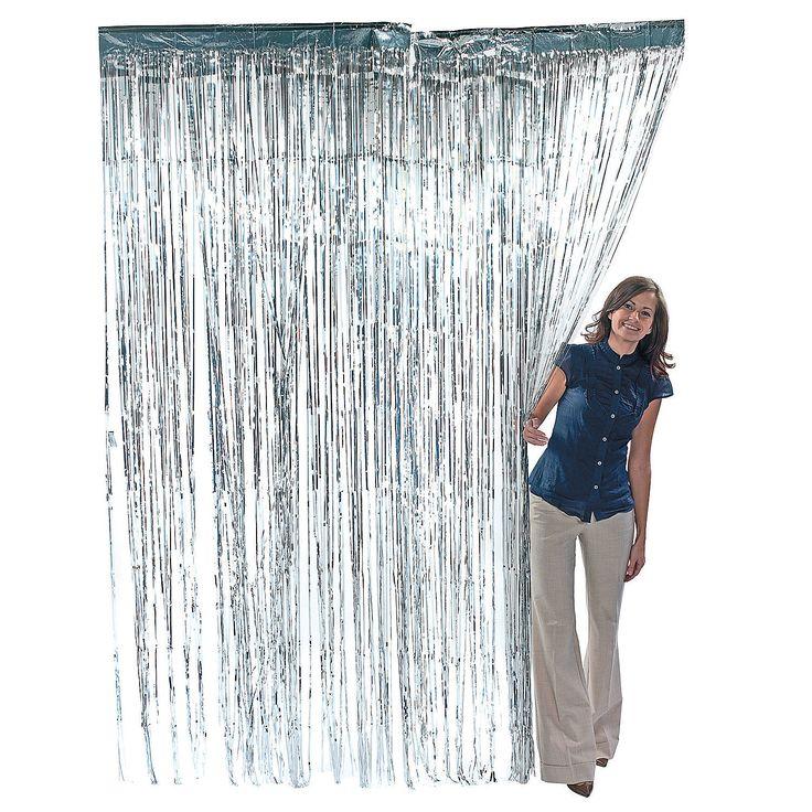 Silver Fringe Curtain - OrientalTrading.com
