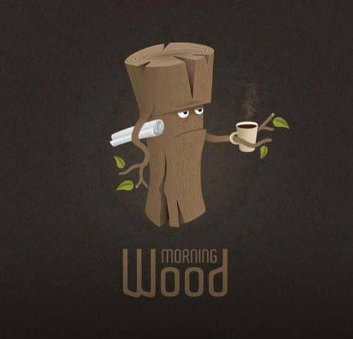 Morning wood Humor Pinterest