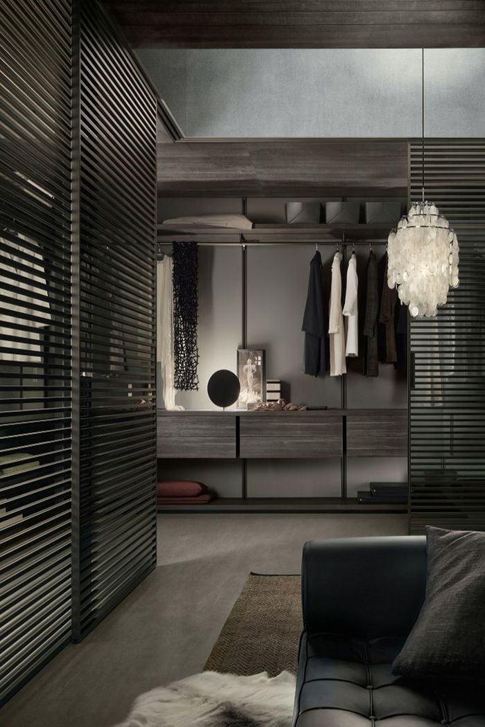 Elegante clóset en color negro. #IdeasenOrden #closets #decoracion