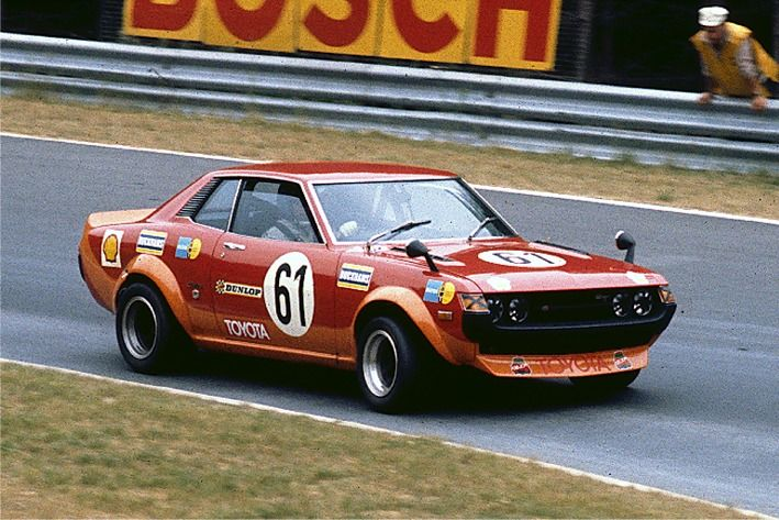 The 1973 Toyota Celica Coupé 1600GT driven Freddy Kottulinsky and Ove Andersson