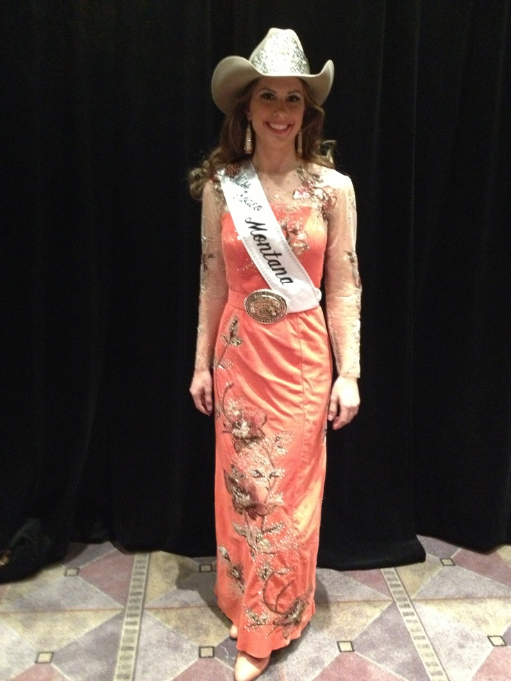 Miss Rodeo Montana in her Western Elegance Dress during ...