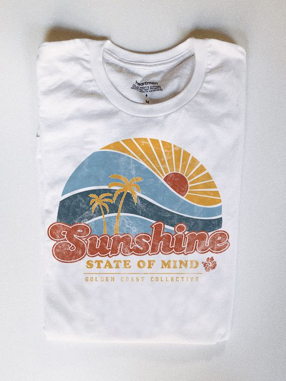 418c2dad3 Sunshine state of mine vintage inspired beach graphic tee. #graphictee  #beachshirt #tshirt