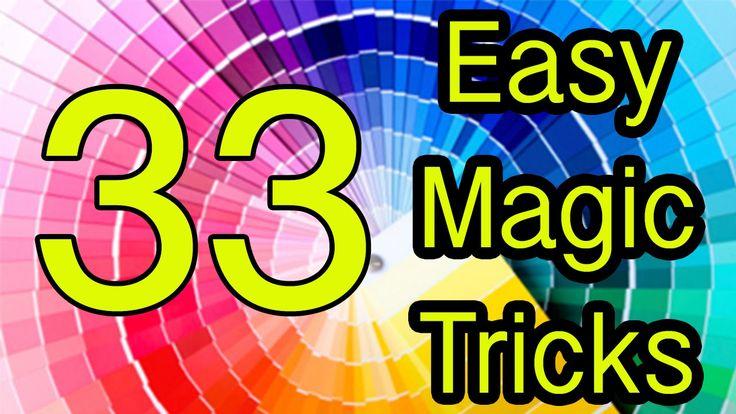 33 Trucos de Magia revelados / Easy magic tricks Revealed 33 Tutorial - YouTube