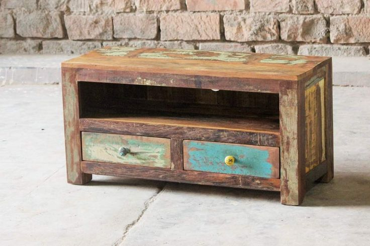 Upcycled Small TV Stand