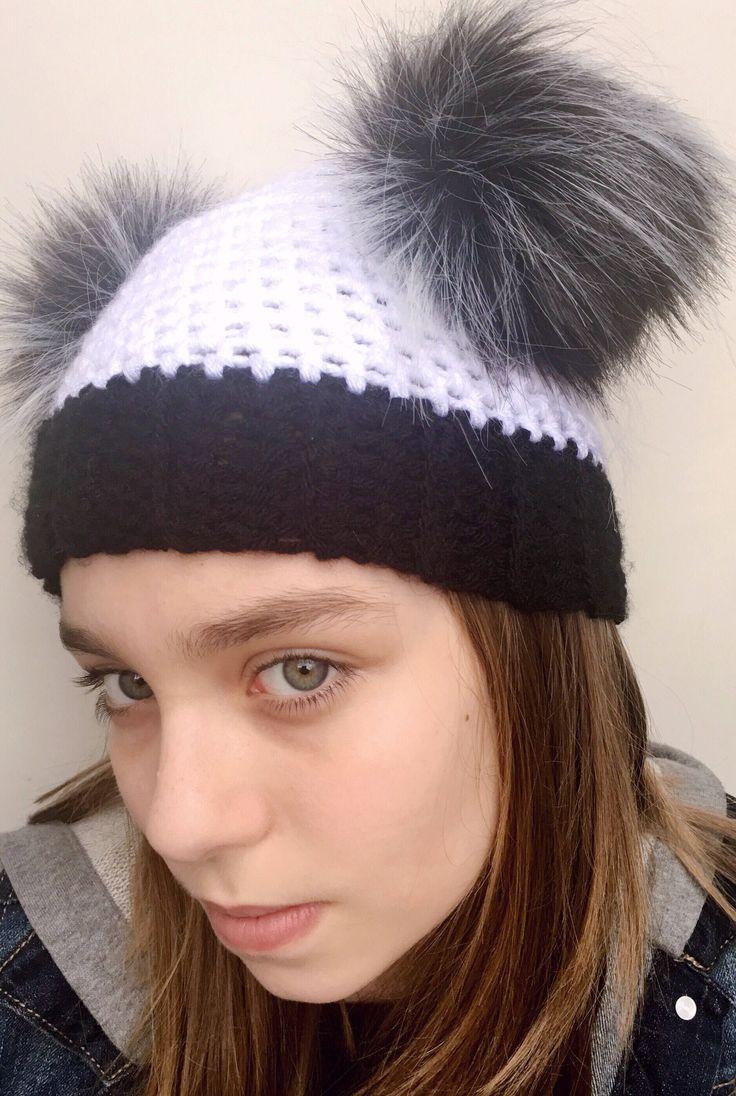 A personal favorite from my Etsy shop https://www.etsy.com/listing/596938737/faux-fur-pom-pom-hat-panda-bear-hat