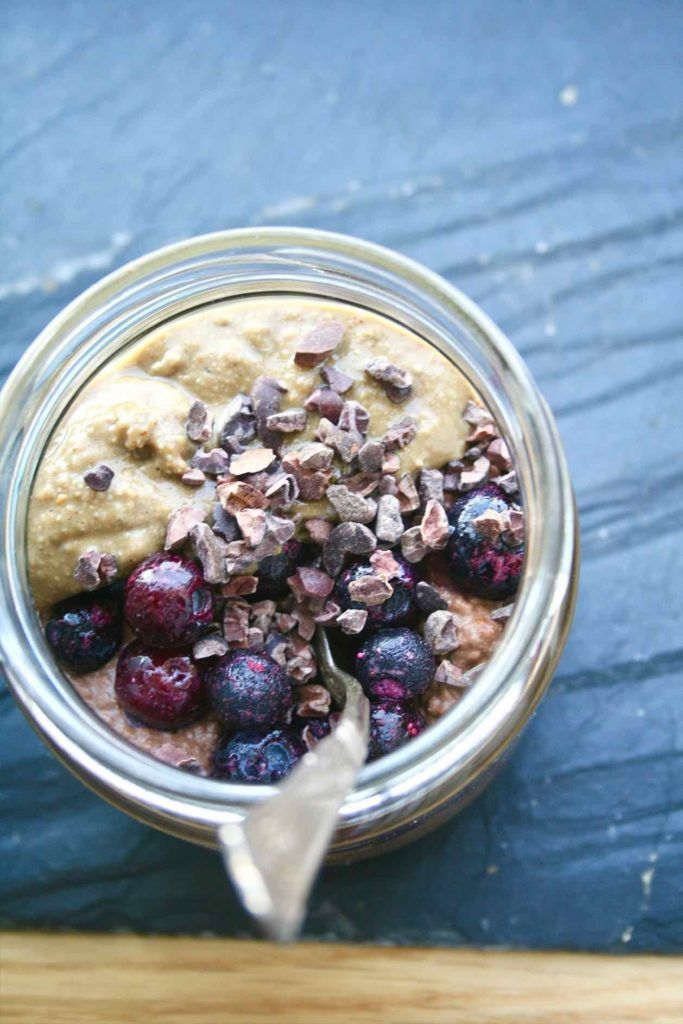 Chocolate and maca chia pudding | Easy healthy breakfast!