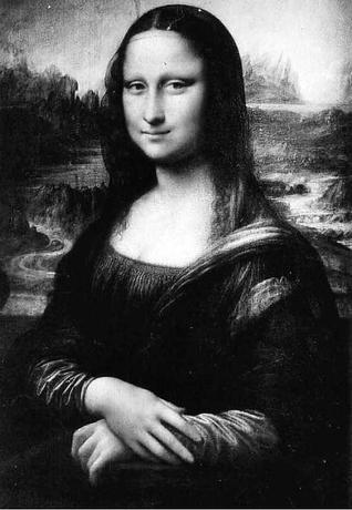 Mona Lisa Black and White.
