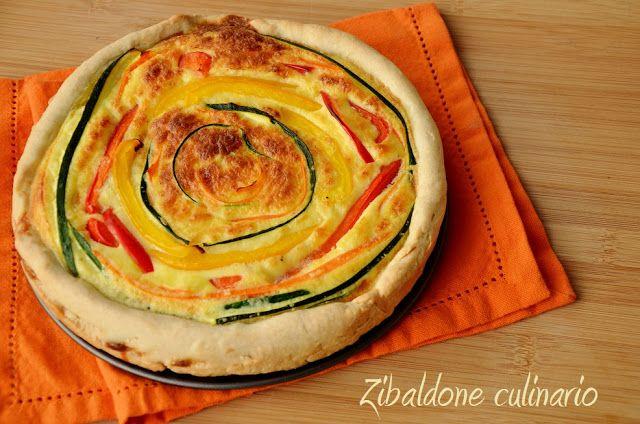 Zibaldone culinario: Torta salata alle verdure, ma a forma di bersaglio!!!